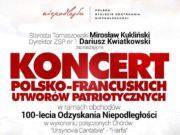 Koncert polsko-francuskich utworów patriotycznych w Tomaszowie Mazowieckim
